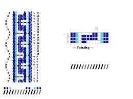 Pattern I designed for tablet weaving Greek meander