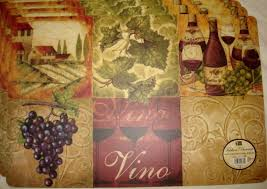 Wine And Grapes Kitchen Decor by Images Of Wine Themed Kitchen Placemats Sc