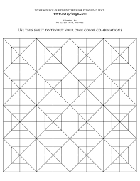 Quilt Pattern Coloring Pages 14 FREE Square Adult