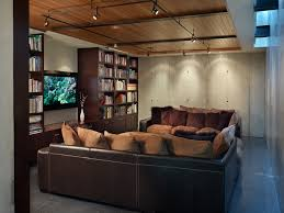 d track lighting with library home theater industrial and