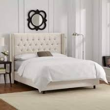 Roma Tufted Wingback Bed King by Tufted Beds For Less Overstock Com