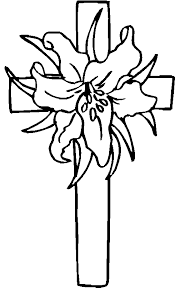 Cross And Flowers Coloring Pages