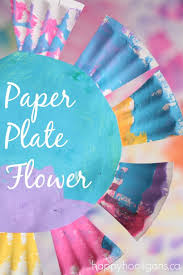 Paper Plate Flowers For Toddlers