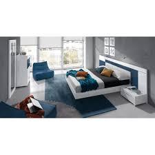 chambre adulte design blanc mobilier de chambre king size