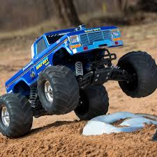 BIGFOOT Classic 1/10 Scale RTR Monster Truck; Blue - HobbyQuarters Tmb Tv Mt Unlimited Moment Retro Bigfoot Monster Truck Qualifying Lego Technic Bigfoot 1 Rc Moc With Itructions Meet The Man Behind First Wsj Poster Ii Car Posters Monster Truck Defects From Ford To Chevrolet After 35 Years Atlanta Motorama Reunite 12 Generations Of Mons Tra360841 110 Scale Officially Licensed Replacementica 1047 Kiss Fm Working Lot Sled Part Original Box Classic Rtr Blue Hobbyquarters Traxxas 2wd Tq Eurorccom