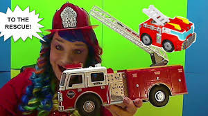Toy FIRE TRUCKS For Children - Fire Engines TOYS By Tonka And ...