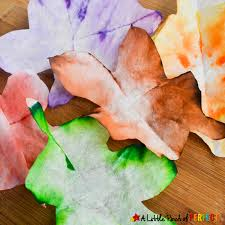 Autumn Leaves STEAM Absorption Art For Kids To Enjoy This Fall Can Watch Coffee