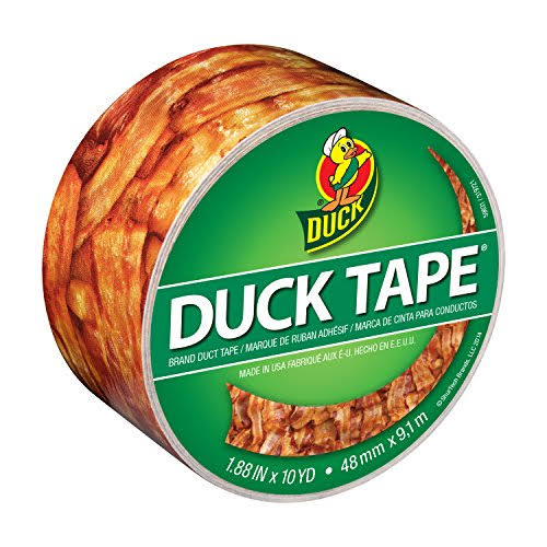 "Duck Brand Crispy Bacon Printed Duct Tape - 1.88""x 10 yd"