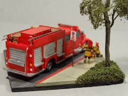 N-Scale Fire Truck Diorama - Rear View: | Miniatures | Pinterest ...