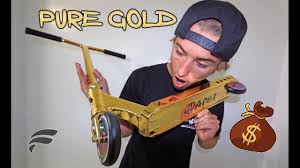 WORLDS MOST EXPENSIVE SCOOTER PURE COLOR GOLD