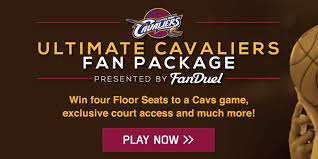 cleveland cavaliers on score floor seats with fanduel s