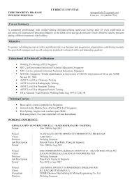 Resume Welders Helper Welder Sample To Welding Resumes Examples Curriculum Vitae Declaration
