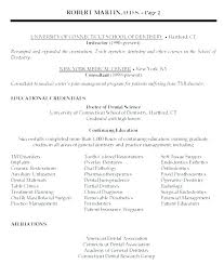 Sample Dentist Resume Dental Examples Cool With Additional Example Front