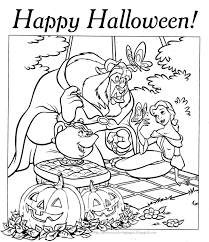 Disney Halloween Coloring Pages To Print by Halloween Coloring Pages Halloween Coloring Page Princess Belle