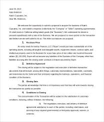 11 Business Letter Intent Templates – Free Sample Example