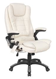 Ebay Computer Desk Chairs by Cosmetic Damage Brown Luxury Leather 6 Point Massage Office
