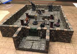 3d Printed Dungeon Tiles by Battle Map Comparisons Sly Flourish