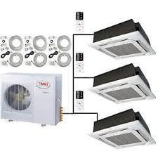 Ceiling Cassette Mini Split by 4 Ton Tri Zone Ductless Split Air Conditioner Ceiling Cassette