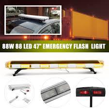 47inch 88w Led Emergency Strobe Lights Bar Flash Warning Lamp Yellow ...