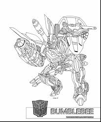 Beautiful Transformers Bumblebee Bee Coloring Pages With And