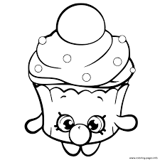 Bubble Cupcake Shopkins Season 6 Coloring Pages