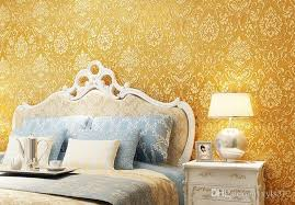 großhandel gold beige cremeweiß modern vlies metallic damast tapete rolle wandpapier wallcoverings w123 xyls312 56 66 auf de dhgate