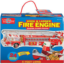 100 Melissa And Doug Fire Truck Puzzle TS Shure Engine Shaped Jumbo Floor Walmartcom