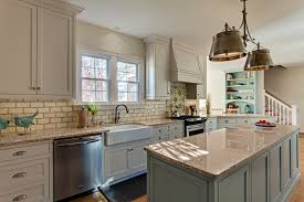 Kitchen Island In Blue Green Rustic