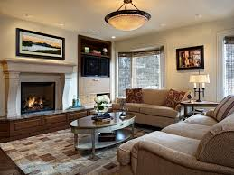 canvas lighting family room traditional with side table ceiling