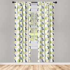 gardine fensterbehandlungen 2 panel set für wohnzimmer schlafzimmer dekor abakuhaus dinosaurier glücklicher dino kaufen otto
