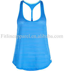 new design blank blue stripe curved hem loose fit singlet
