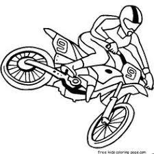 Boy Coloring Pages Fargelegge Tegninger Free Kids Motocross Online
