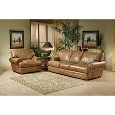 Dark Brown Leather Couch Living Room Ideas by Grey Painted Brick Wall Design Of Contemporary Living Room