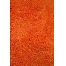 Orange Shag 5 X 7 Area Rugs Rugs The Home Depot