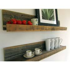 Rustic Wall Mounted Reclaimed Wood Shelves MOVED