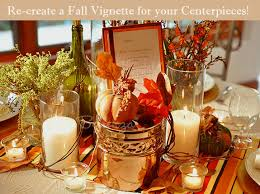 Imagine Autumn On Your Tables Rustic Accents Using Brown And Orange Leaves
