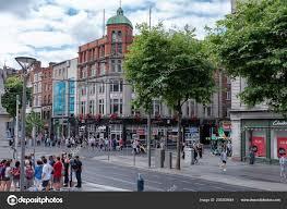 100 Dublin Street Ireland July 2018 Busy Filled Shoppers