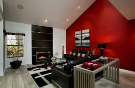 hinreißende wohnideen in rot schwarz weiß
