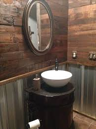 Remodel Rustic Bathroom With Pallet Wall And Corrugated