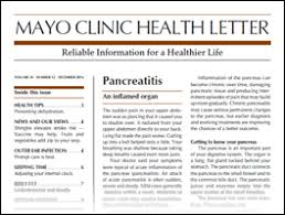 Mayo Clinic Health Letter To Your Good Health