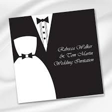 Dress Tux Wedding Invite Printie