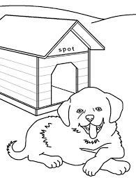 Coloring Page Dog Kennel Buildings And Architecture 40