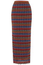 nat multi colours lace pencil skirt saloni saloni