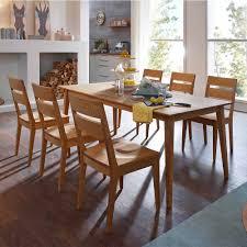 tisch und stuhl set likes aus holz wildeiche massiv 7 teilig