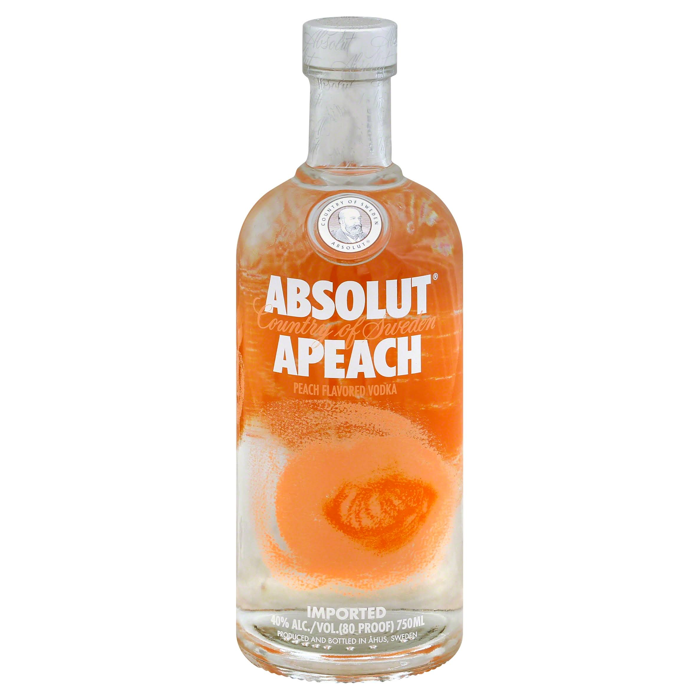 Absolut Apeach Vodka - Peach