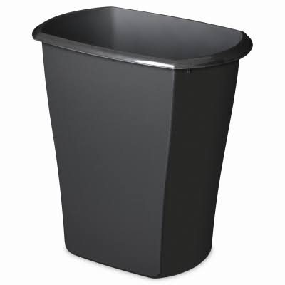 Sterilite Wastebasket - Black , 5.5 Gallon
