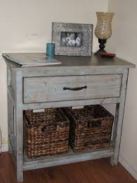FurnitureDiy Wood Bedside Table Made From Reclaimed Painted With White Together Furniture Surprising Picture