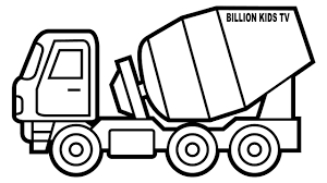 Better Trucks Coloring Pages Mixer Truck Colors For Kids With ...