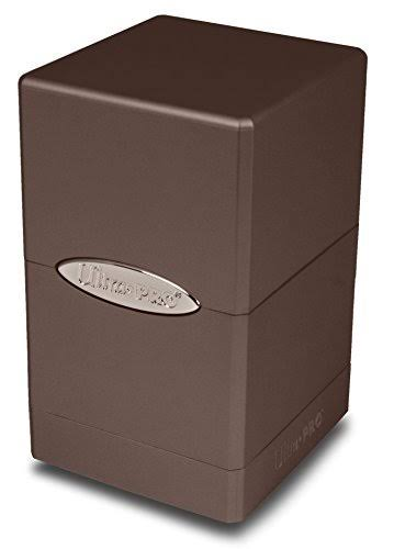Ultra Pro Satin Tower Deck Box - Metallic Dark Chocolate