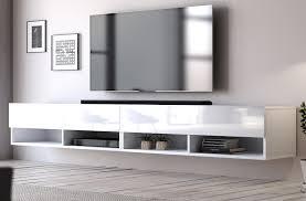 tv lowboard epsom in weiß hochglanz unterteil hängend 280 cm für flat tv unterschrank als hängeschrank